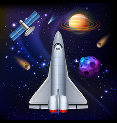 Space shuttle mission composition vector