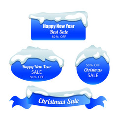 special winter offer stickers set vector image