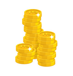 Stack gold pounds isolated cartoon vector