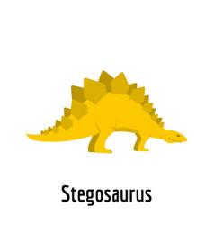 stegosaurus icon flat style vector image