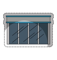 Store building glass icon vector
