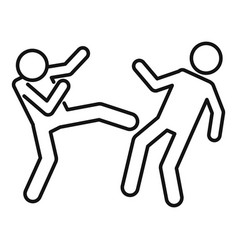stress public violence icon outline style vector image