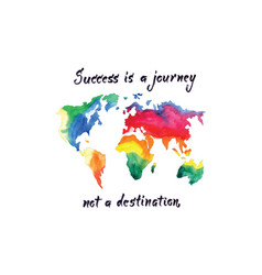 Success is a journey watercolor vector