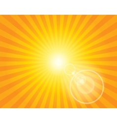 Sun Sunburst Pattern with lens flare vector image