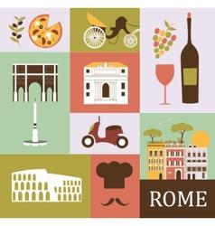 Symbols rome vector