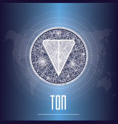 Telegram open network ton cryptocurrency vector