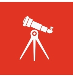 The telescope icon Spyglass symbol Flat vector image
