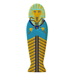 The tomb of the pharaoh of ancient egypt vector