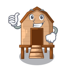 Thumbs up chicken coop isolated on a mascot vector