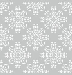 tile grey and white pattern for seamless wallpaper vector image