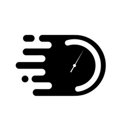 Time clock or stopwatch logo for fast delivery vector