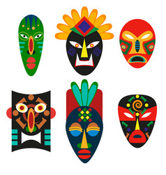 Traditional mask african tribes religious mask vector