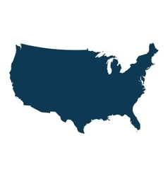 usa country map vector image