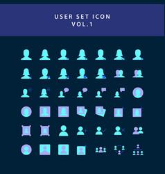 user flat style design icon set vol1 vector image