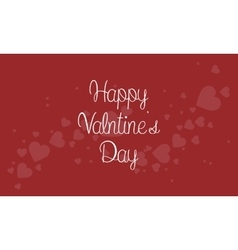 Valentine theme on red backgrounds vector image