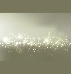 gold and silver bokeh sky background with glitter vector image vector image
