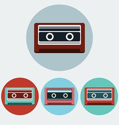 Music Tape Colorful icon set vector image vector image