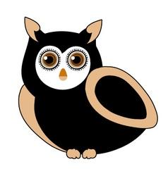owl- bird of prey vector image vector image