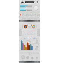 set of elements infographics and icons vector image