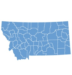 State map of Montana by counties vector image