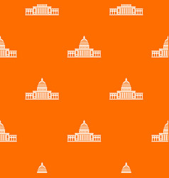 white house pattern seamless vector image vector image
