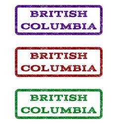 British columbia watermark stamp vector