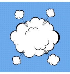 Comic cloud vector image