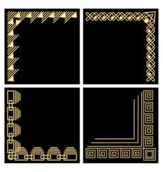 decorative frame corner gold material filigree vector image