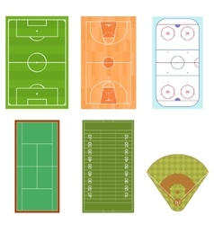 Fieldes Set Isometric View vector image