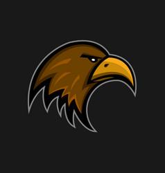 Mascot eagle logo sports club falcon head emblem vector