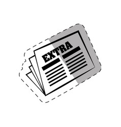 newspaper letter extra paper vector image