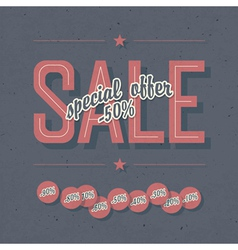 sale card template vector image