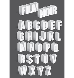 Three Dimensional Retro Alphabet vector image