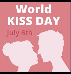 world kiss day vector image