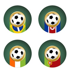 2010 World Cup South Africa Group G vector image vector image