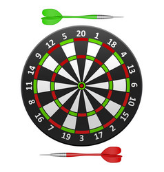 realistic detailed dart board vector image vector image