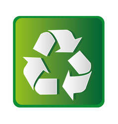 Recycle ecology symbol icon vector
