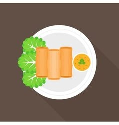 Spring roll vector image