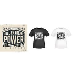 t-shirt print vintage design vector image
