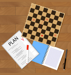 tactic business plan vector image vector image