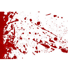 abstract splatter red color background vector image vector image