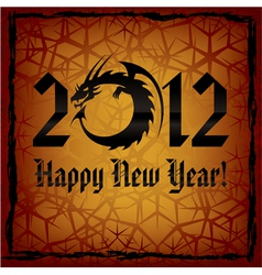 black dragon 2012 new year card vector image
