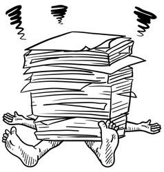 doodle squash paper stack vector image