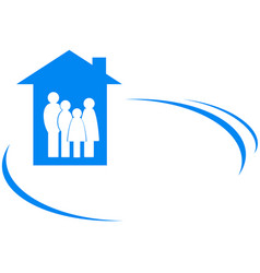 family icon with place for text vector image