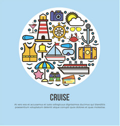 sea cruise travel or summer ocean vacation vector image