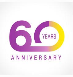 60 anniversary classic logo vector