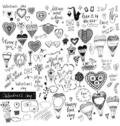A big set of handdrawn style design elements for vector