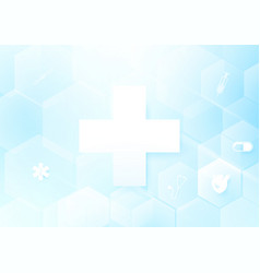 abstract geometric shape medicine and science vector image