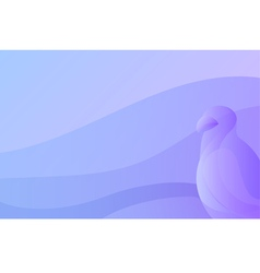 abstract gradient background with stylized bird vector image