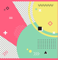 abstract of sweet color trendy geometric elements vector image